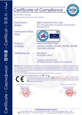 CE金属管转子流量计